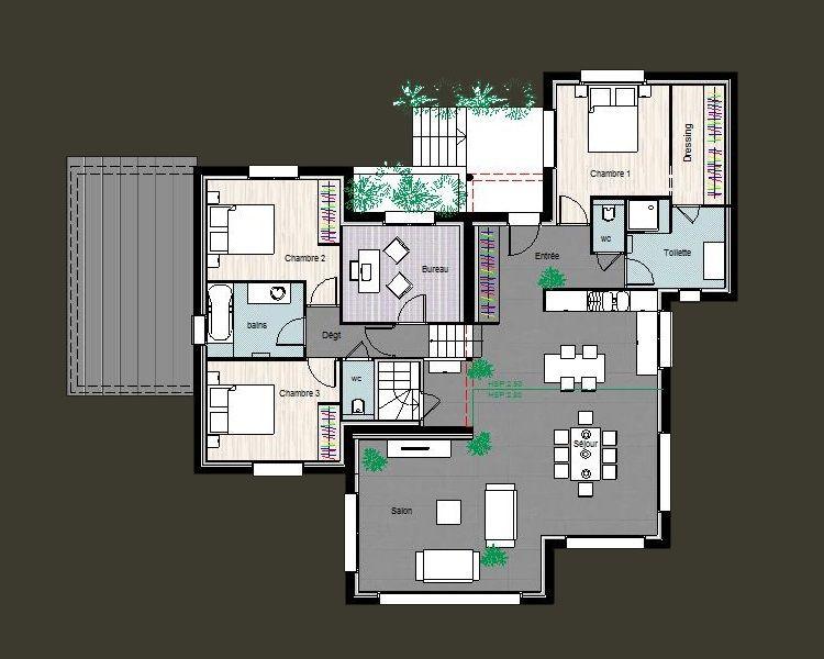 Idées de plans CTA Construction House Pinterest Apartments - maison de 100m2 plan