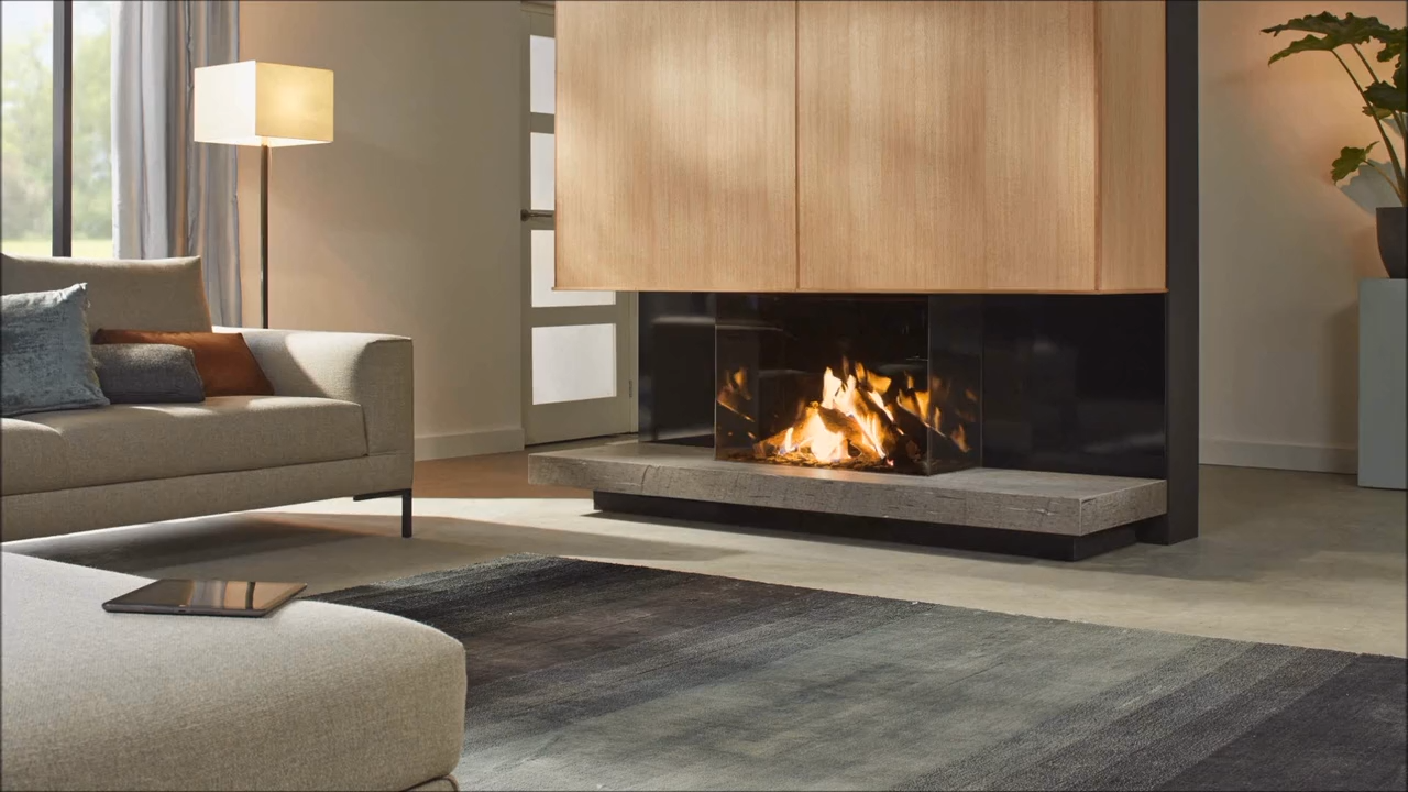 Photo of Dru Maestro 80/3 Eco Wave | Built-in gas fire on three sides
