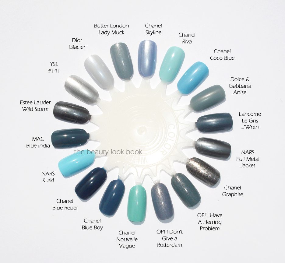Blue polish swatches : Chanel, D, Nars, OPI, Lancome, and Estee ...