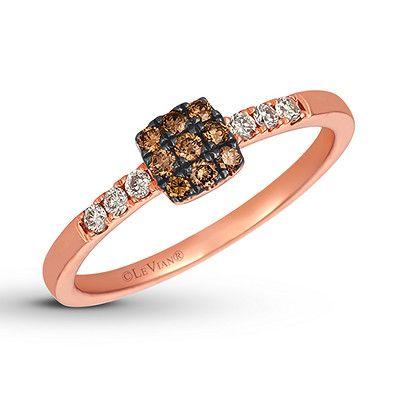 Le Vian Chocolate & Nude Necklace 7/8 ct tw Diamonds 14K