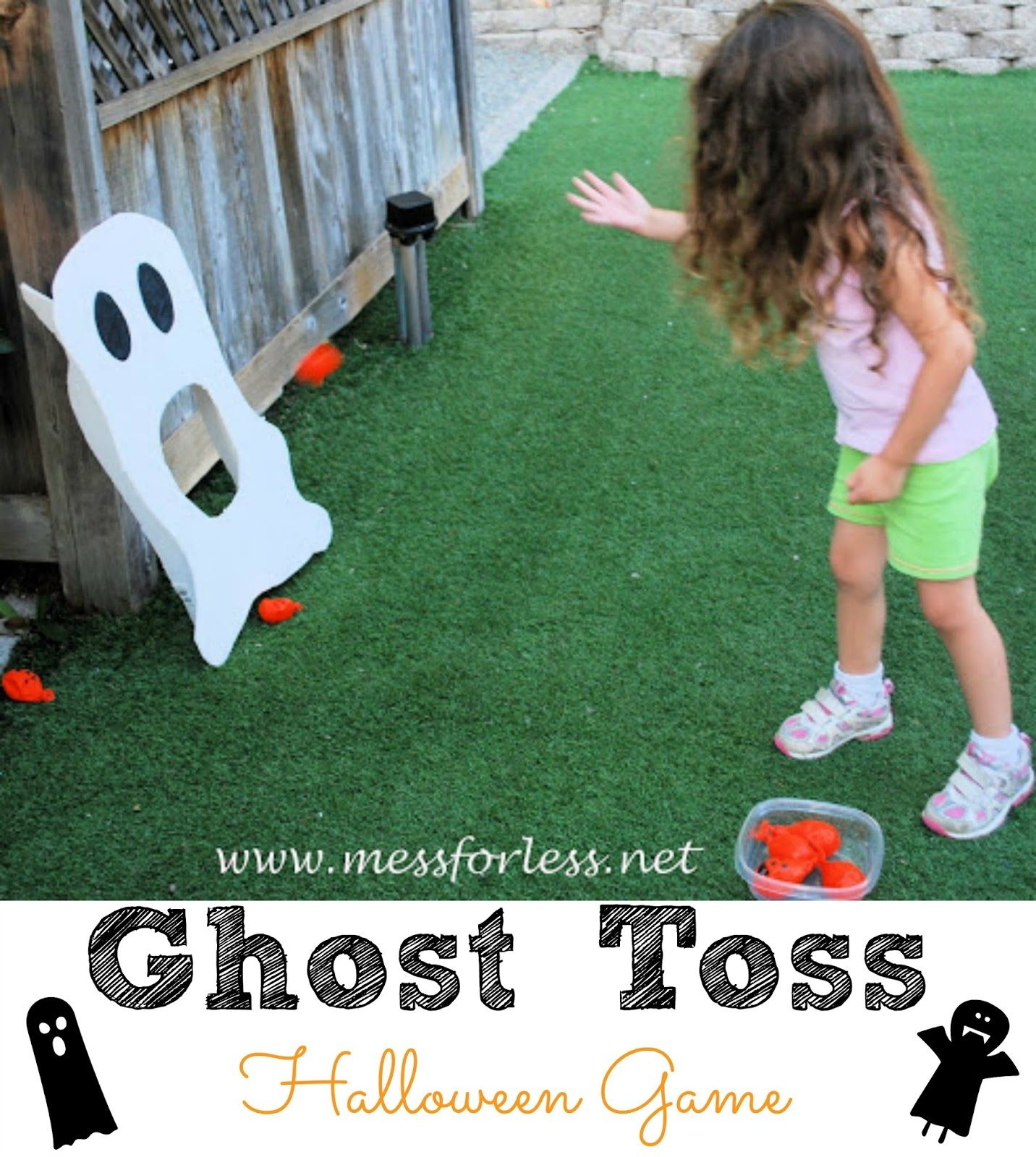 Ghost Toss Halloween Game - Simple to make using foam core board ...