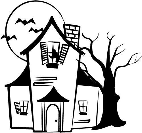 Easy Haunted House Drawings