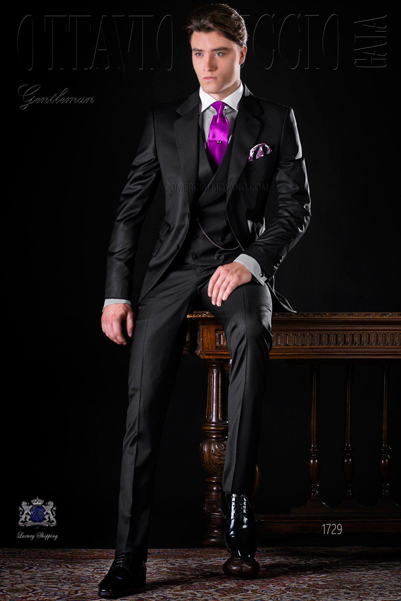 italienisch schwarze anzug aus coole wolle stoff italienische m nner hochzeitsanz ge 2017. Black Bedroom Furniture Sets. Home Design Ideas