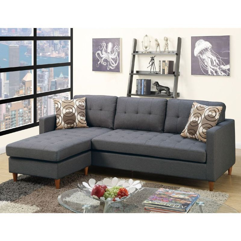 Charlie 4 Seat Suede Fabric Sofa W Chaise In Grey Buy Fabric Sofas Grey Sectional Sofa Sectional Sofa Couch Small Sectional Sofa