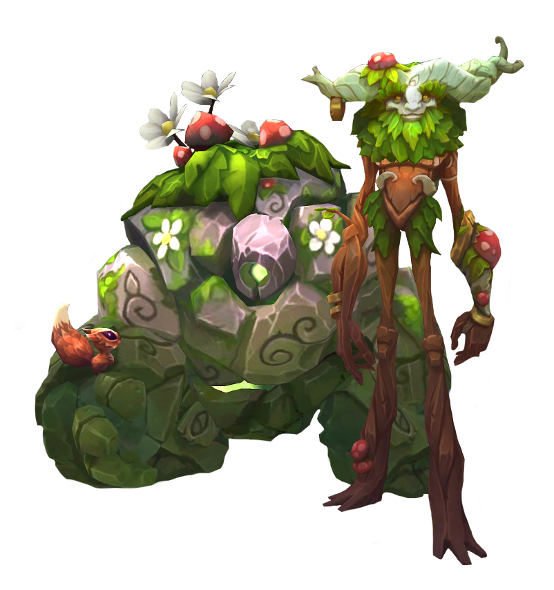 Ivern Y Daisy 3d In 2019 League Of Legends Characters League Of