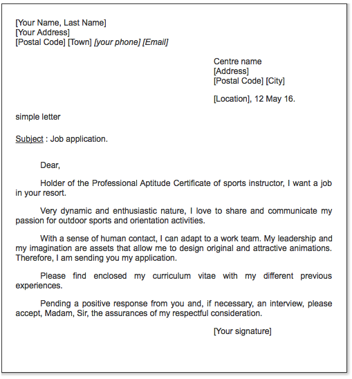 Sport Presenter Cover Letter Example Examples Resume Cv Cover Letter Example Internship Resume Lettering