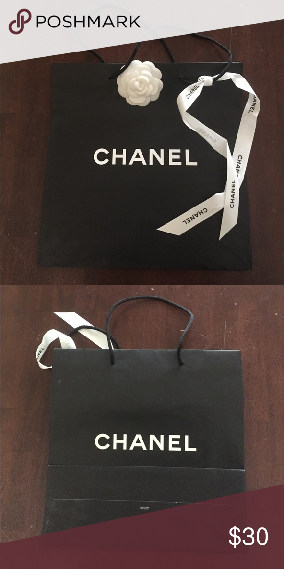 cc83ab1ae74190 Authentic Chanel shopping bag Chanel shopping bag with ribbon and flower  still attached. Bag is approximately 13x13. ❤ 😍 CHANEL Other