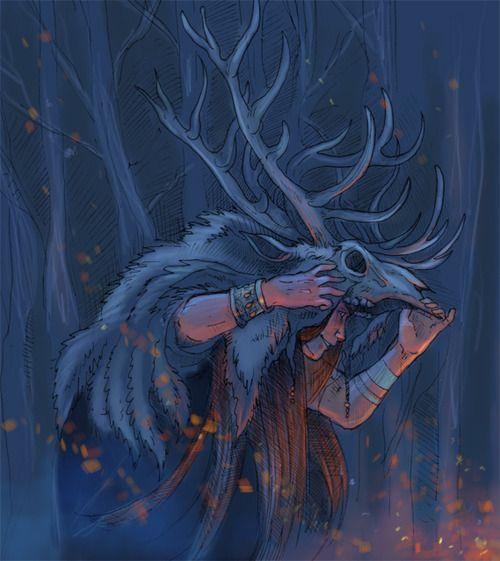 """cosmic-rebirth: """"The Wild Hunt,"""" by Nhaar, on DeviantArt"""