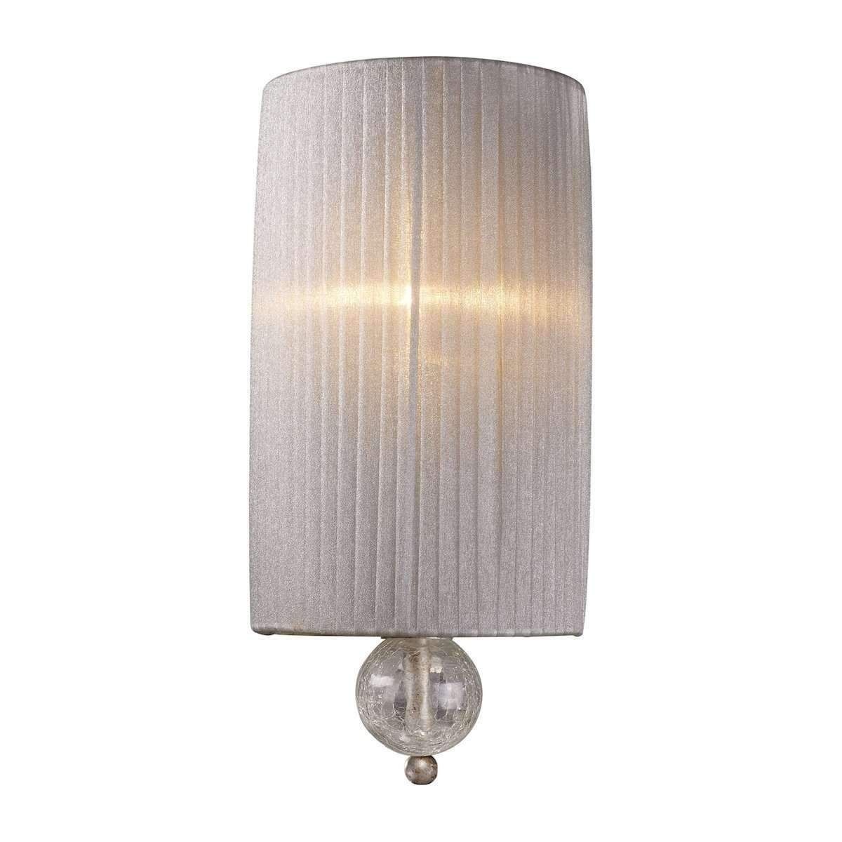 Alexis 1 Light Wall Sconce In Antique Silver by ELK