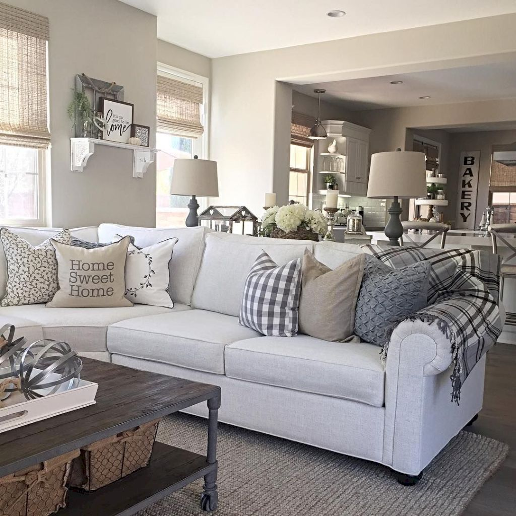 30 Comfy Modern Farmhouse Living Room Decor Ideas   HomeyLife.com