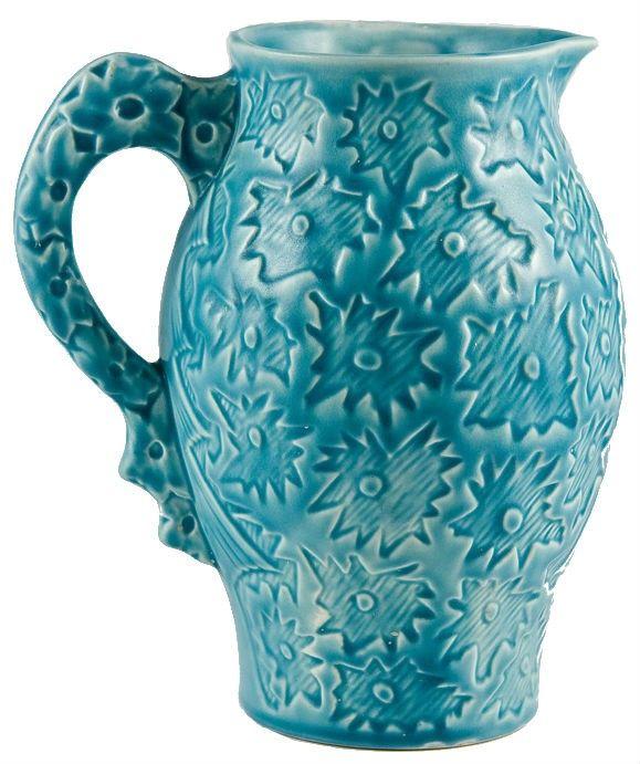 Turquoise water jug.