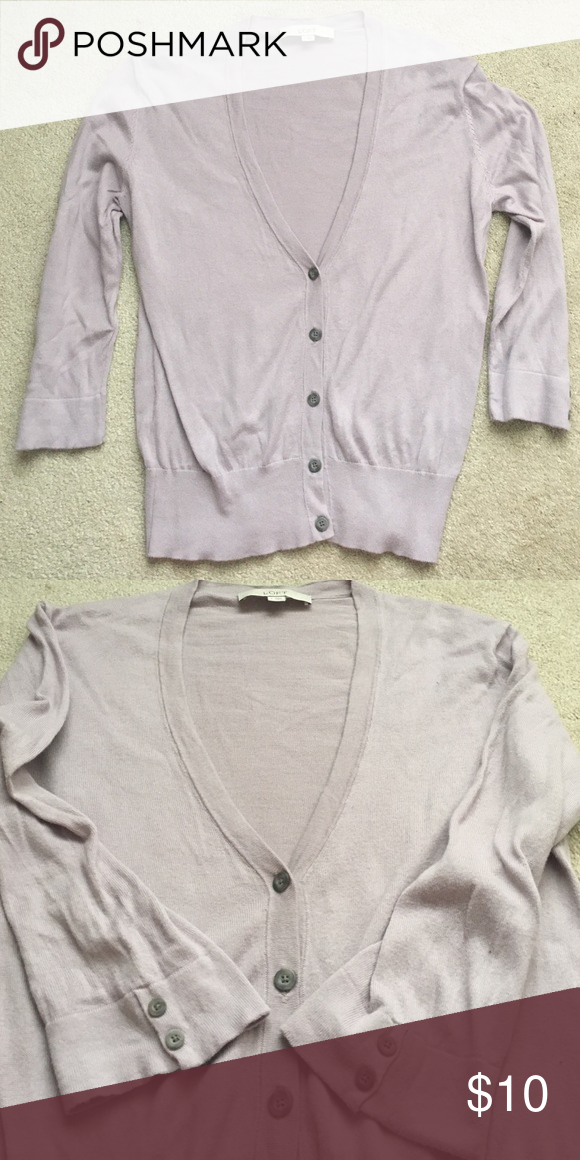 Loft light purple cardigan EUC no rips, tears or piling. 3/4 ...