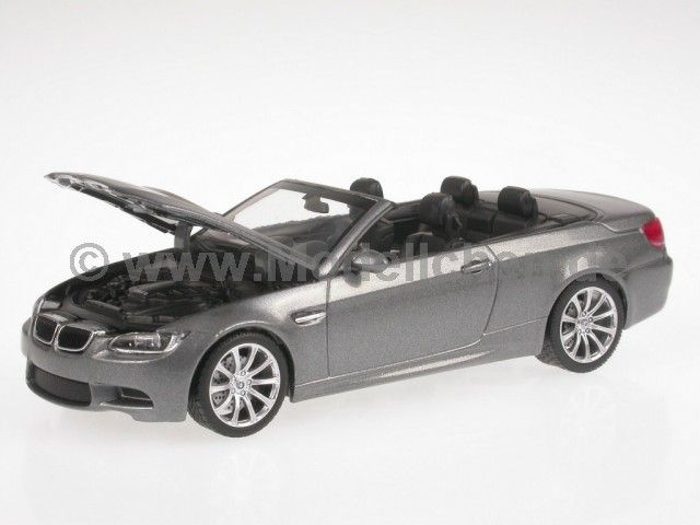 BMW e93 M3 Cabrio spacegrau Modellauto 431026331 Minichamps 1:43