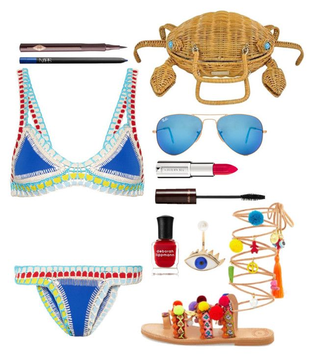 """Into the blue"" by anujabalaji ❤ liked on Polyvore featuring kiini, Ray-Ban, Kate Spade, Deborah Lippmann, NARS Cosmetics, Charlotte Tilbury, Givenchy and Delfina Delettrez"