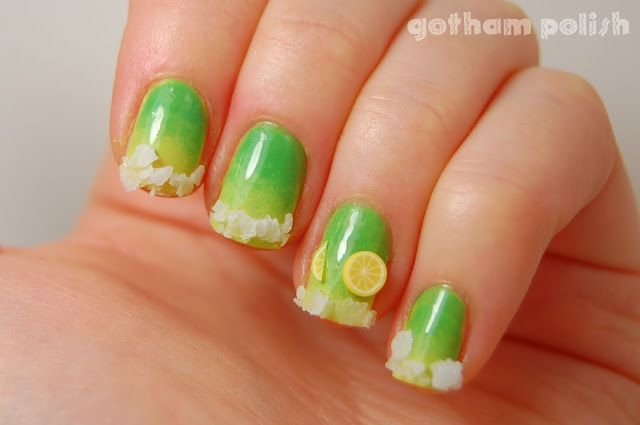 5 De Mayo Margarita Nails Finger Paint Margarita Nails Nails Nail Art Designs