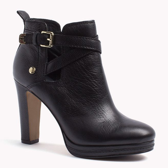 tommy hilfiger lucy ankle boots black schwarz tommy hilfiger stiefel stiefeletten. Black Bedroom Furniture Sets. Home Design Ideas