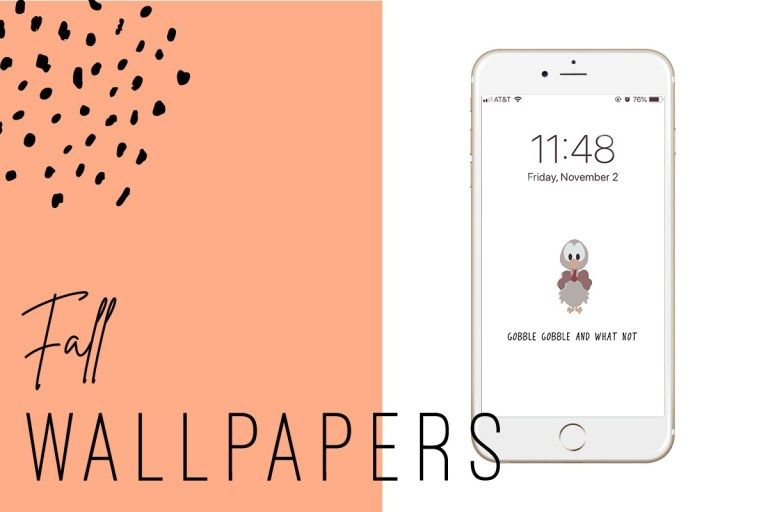 Free Fall iPhone Wallpapers | Ginger and Ivory #falliphonewallpaper