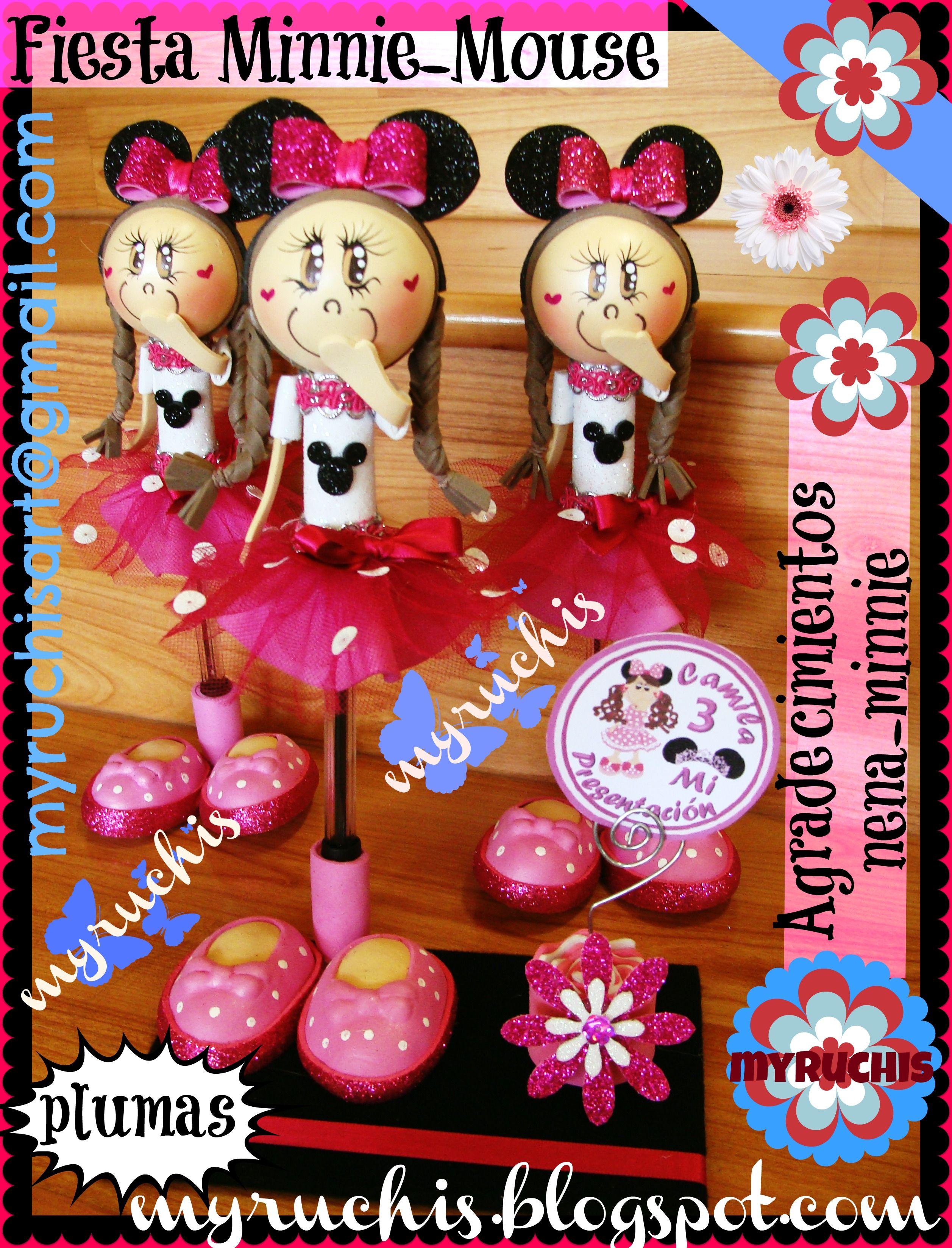 Invitaciones Infantiles. Minnie. sweetmyruchis.blogspot.com