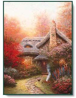 Autumn at Ashley's Cottage ~ Thomas Kinkade