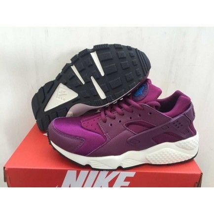 Nike Air Huarache Purple Burgundy Womens Shoes  08522201f