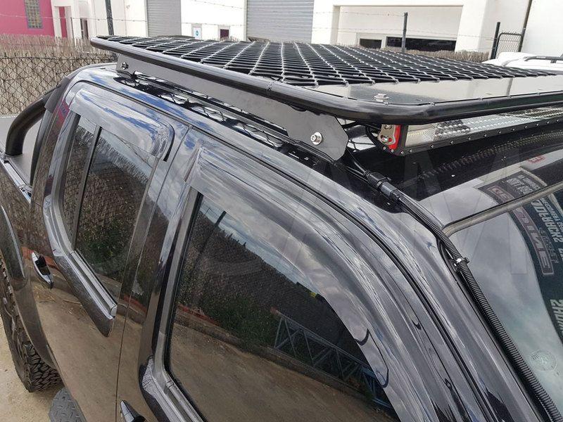 Ocam Aluminium Flat Roof Rack For Nissan Navara D40 Dual Cab Alloy Platform Nissan Navara Nissan Navara D40 Roof Rack