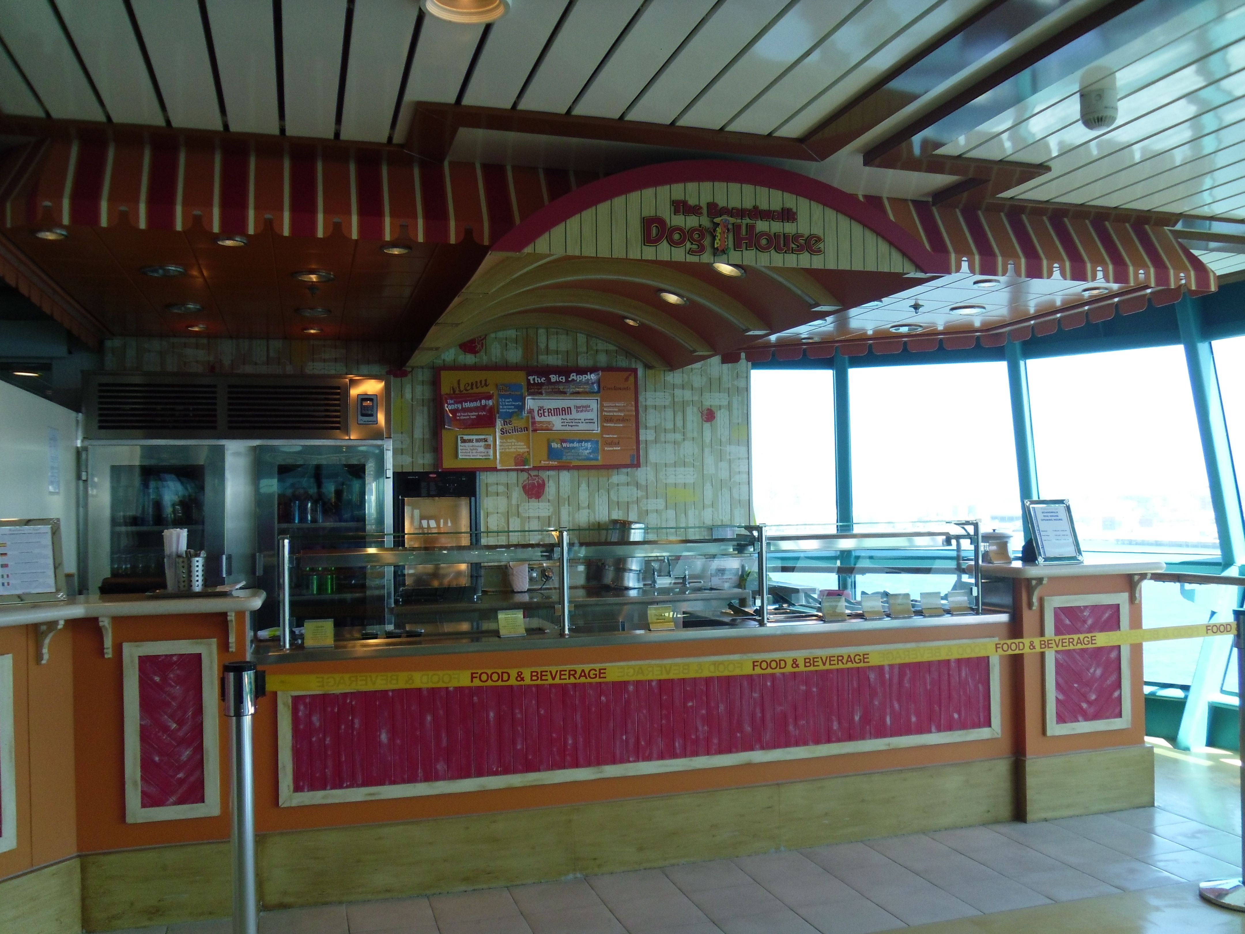 The Boardwalk Dog House Free Hot Dogs Anyone Royal Caribbean