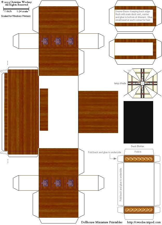 Printable Dollhouse Furniture Templates Paper Cutouts For