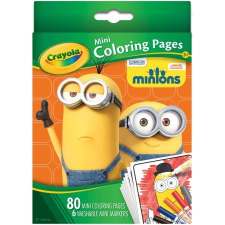 Crayola Mini Coloring Pages, Minions, Assorted