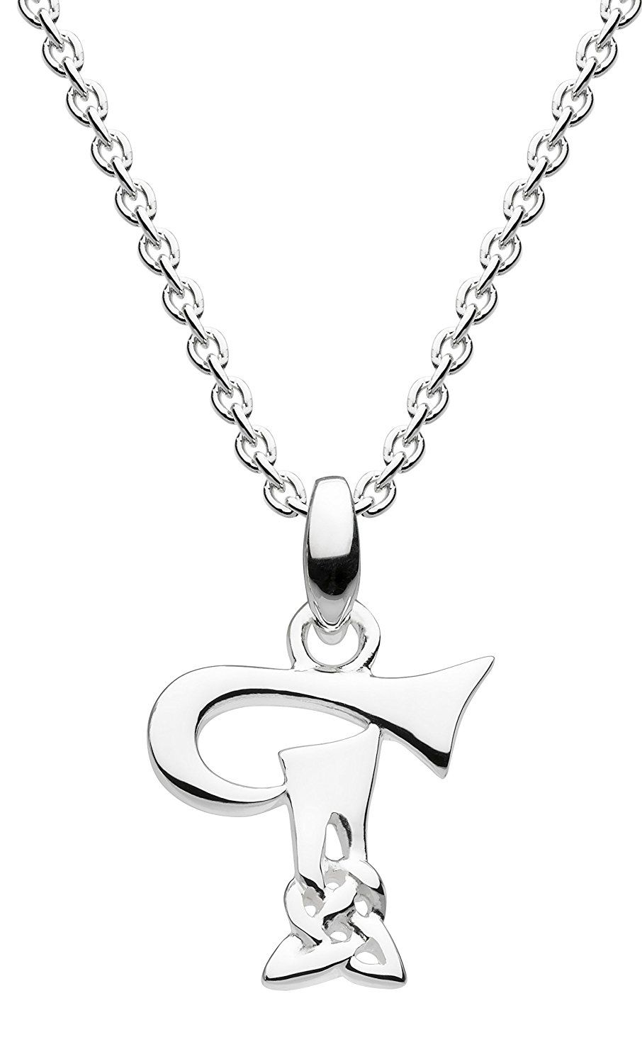 Heritage Sterling Silver Trinity Knot and Bar Women Necklace, 45.7cm