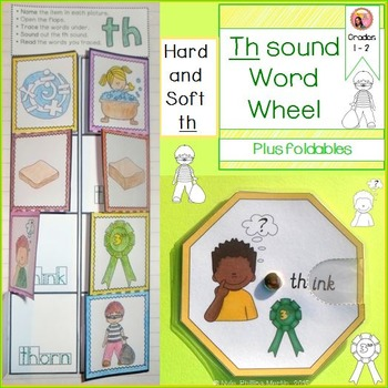 Th sound word wheels and foldable worksheet teaching printables th sound word wheels and foldable worksheet the hard and soft th sounds phonics for first grade and second grade ibookread ePUb