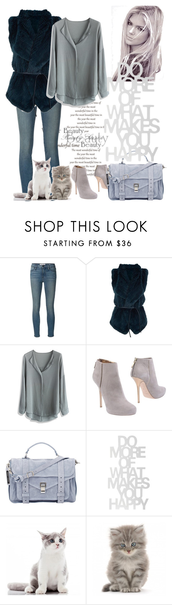 """grey and blue"" by chiara-ix74 ❤ liked on Polyvore featuring Frame Denim, Vince, Chicwish, Blumarine, Proenza Schouler, women's clothing, women, female, woman and misses"