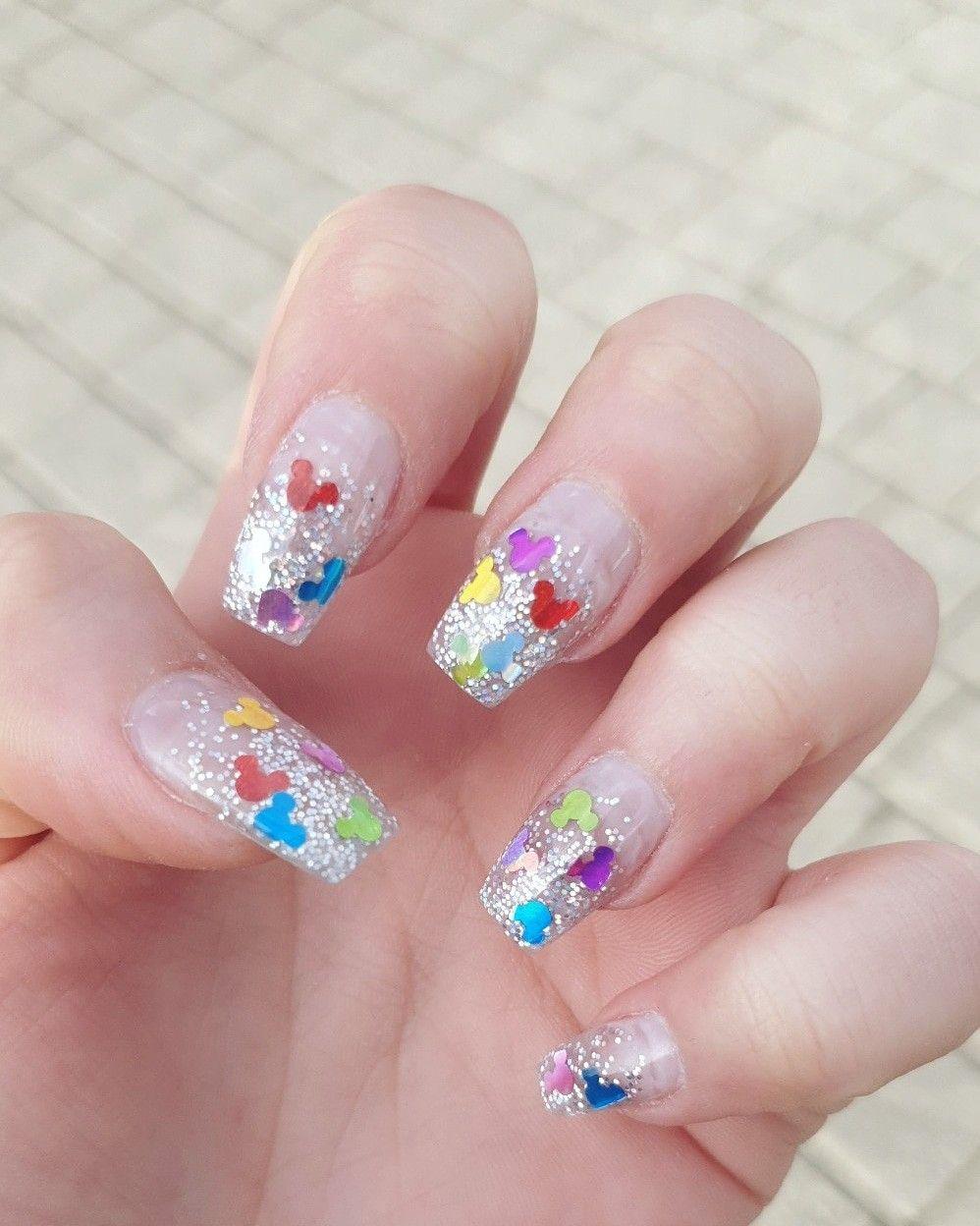 Mickey Mouse Nails Disney Nails Disney Acrylic Nails Mickey Nails
