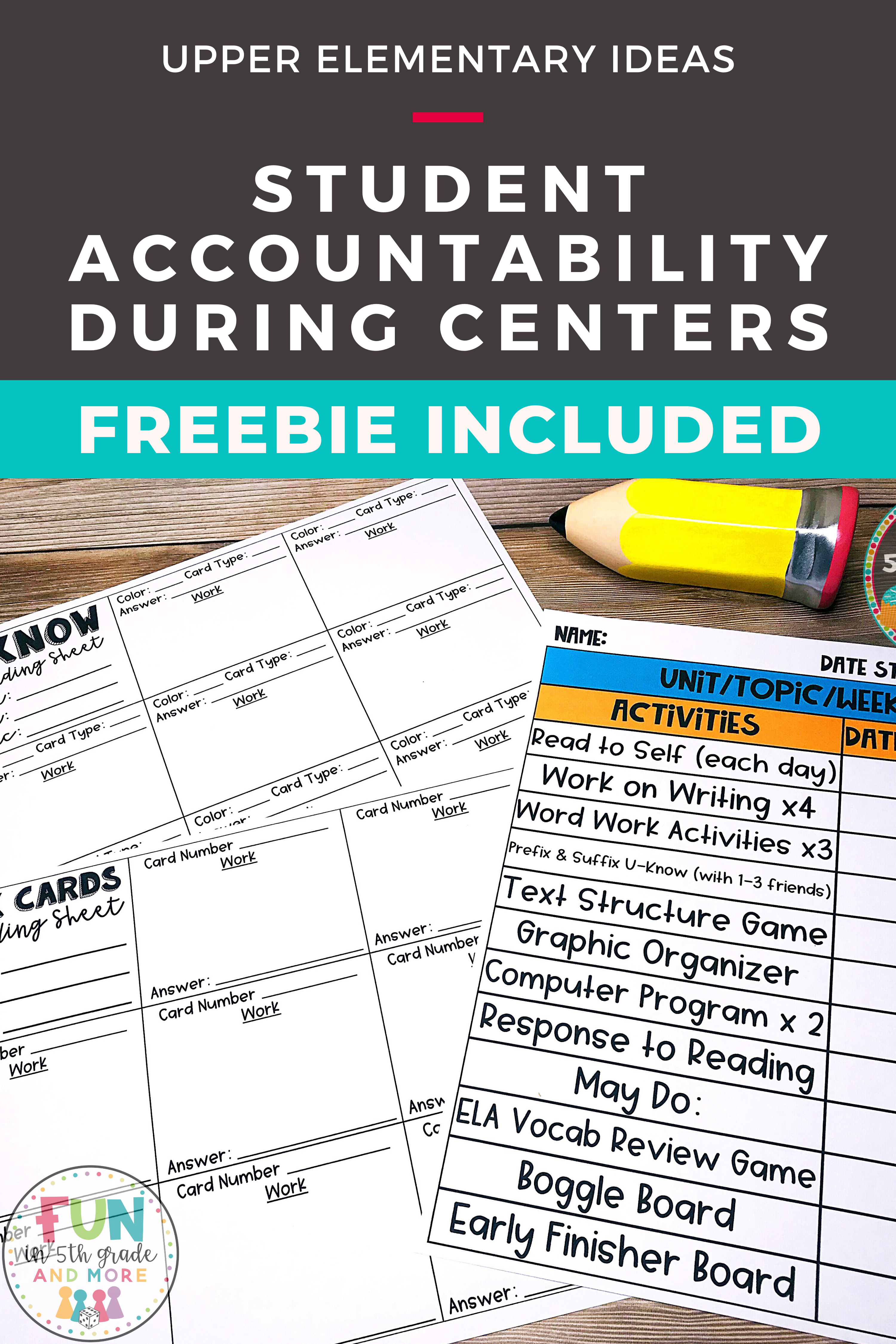 Keeping Students Accountable During Centers In