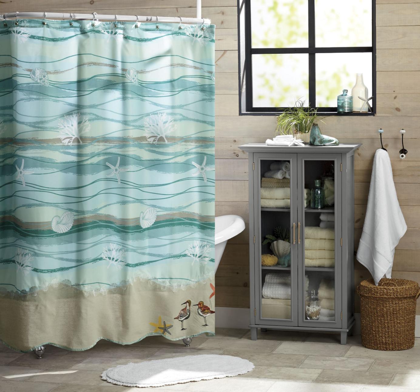 Modern Bathroom Decor, Curtains