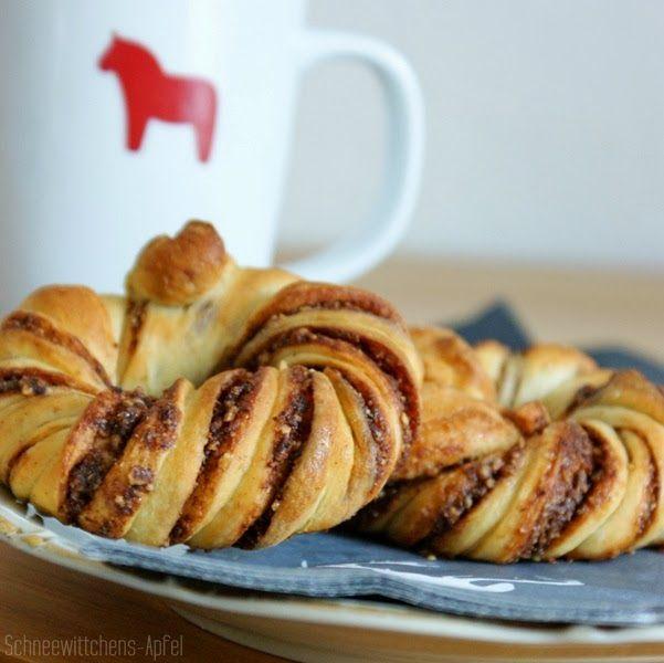 Schneewittchens Apfel: Ich backs mir - Zimt-Nutella-Knoten #ichbacksmir #zimtschnecken