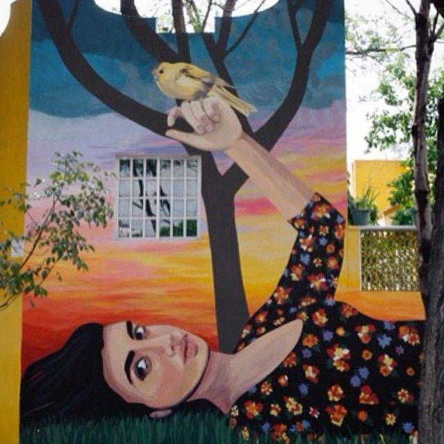 Hola banda, aquí el mural que hizo @esabeck con @culturacolectiva en el Parque…