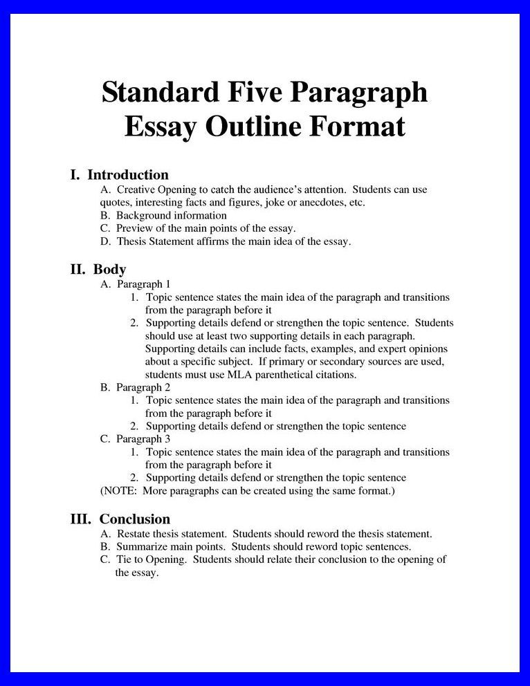 Standard Essay Format Bing Image Order An Academic Paper Writing Rewriting Math Physic Skill Tips Outline