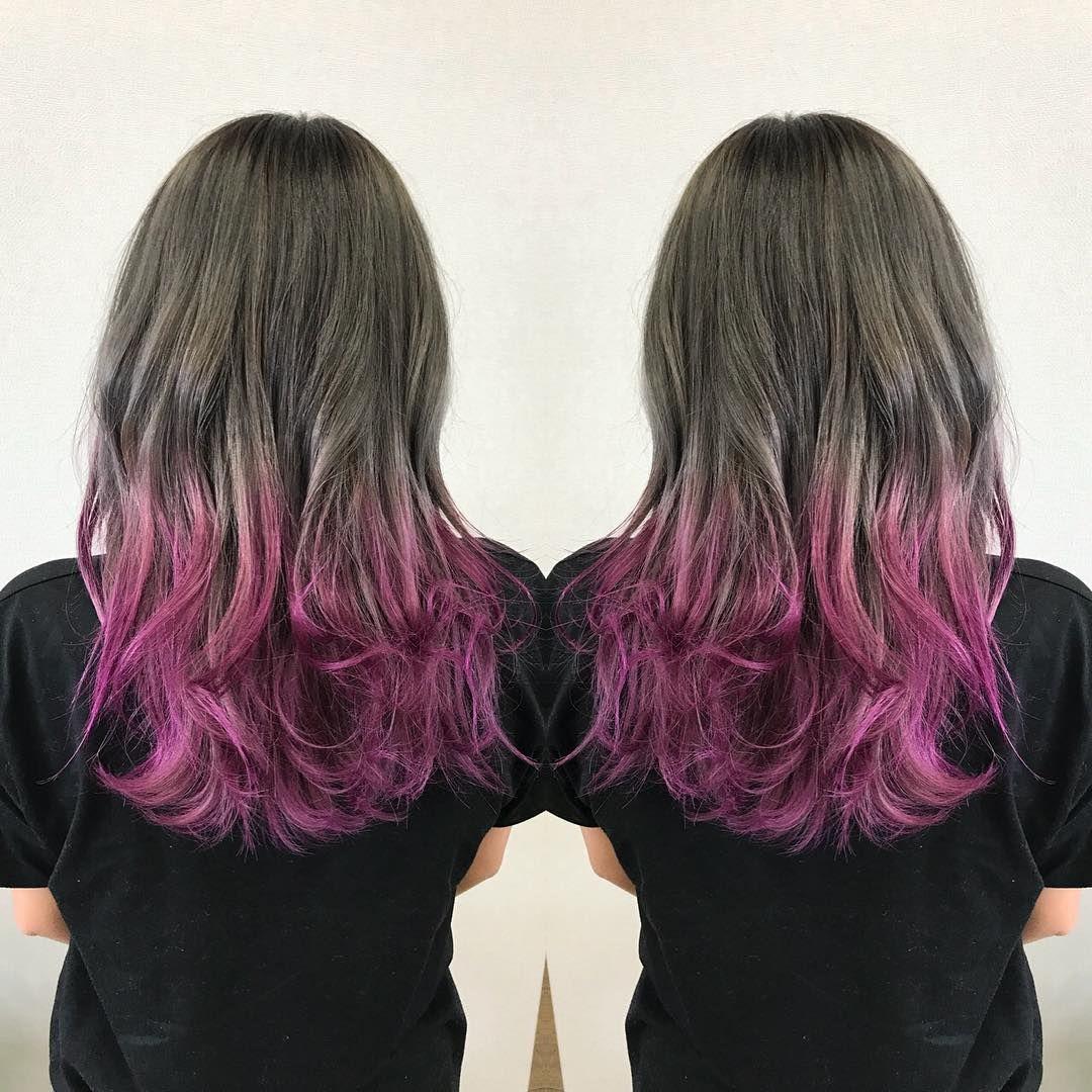 漆畑光 Salon Workさんはinstagramを利用しています グレージュカラーから ピンクバイオレットのグラデーション Hairstyle Haircolor Hair Hairarrange
