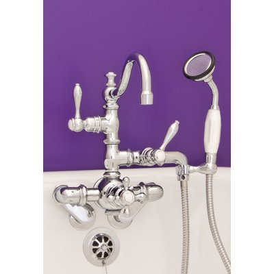 Strom Plumbing By Sign Of The Crab Double Handle Wall Mount Faucet