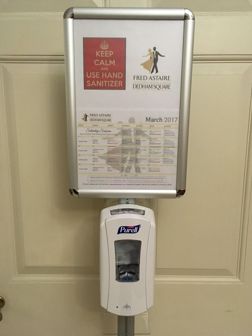 11 X 17 Menu Floor Stand Snap Open Purell Hand Sanitizer