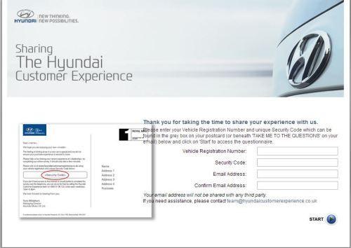 Hyundai Customer Experience Survey, www ...