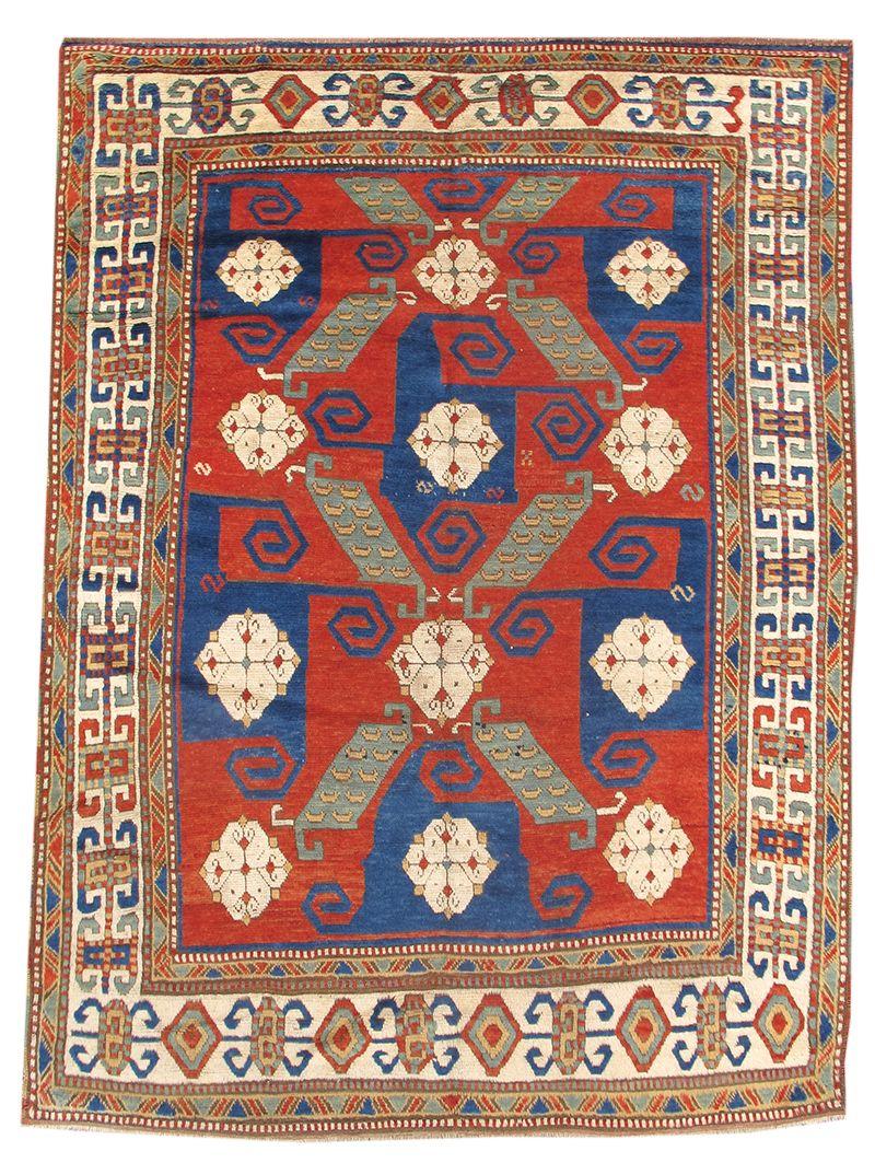 Pinwheel Kazak, mid 19th C.