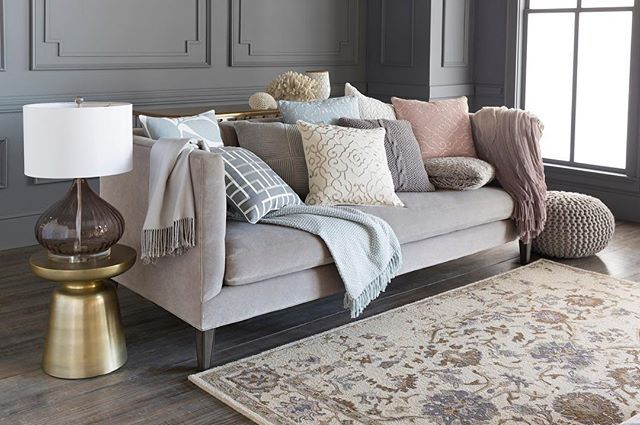 No room is complete without a few pillows and throws to make it feel cozy! @suryasocial offers a wide variety of home accessories that are fresh, colorful and on-trend which make the perfect addition to every room. #LVMkt #homedecor #surya #accessories