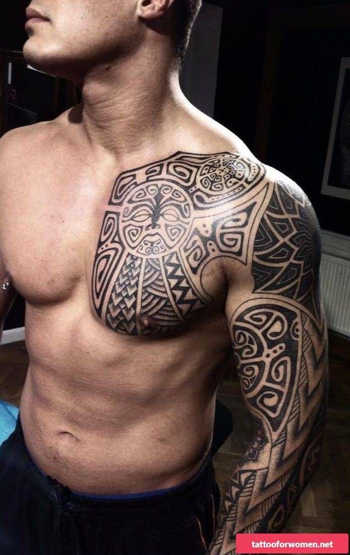 Epaule Pectoraux Polynesien Tattoo Tattoos Polynesian Tattoo