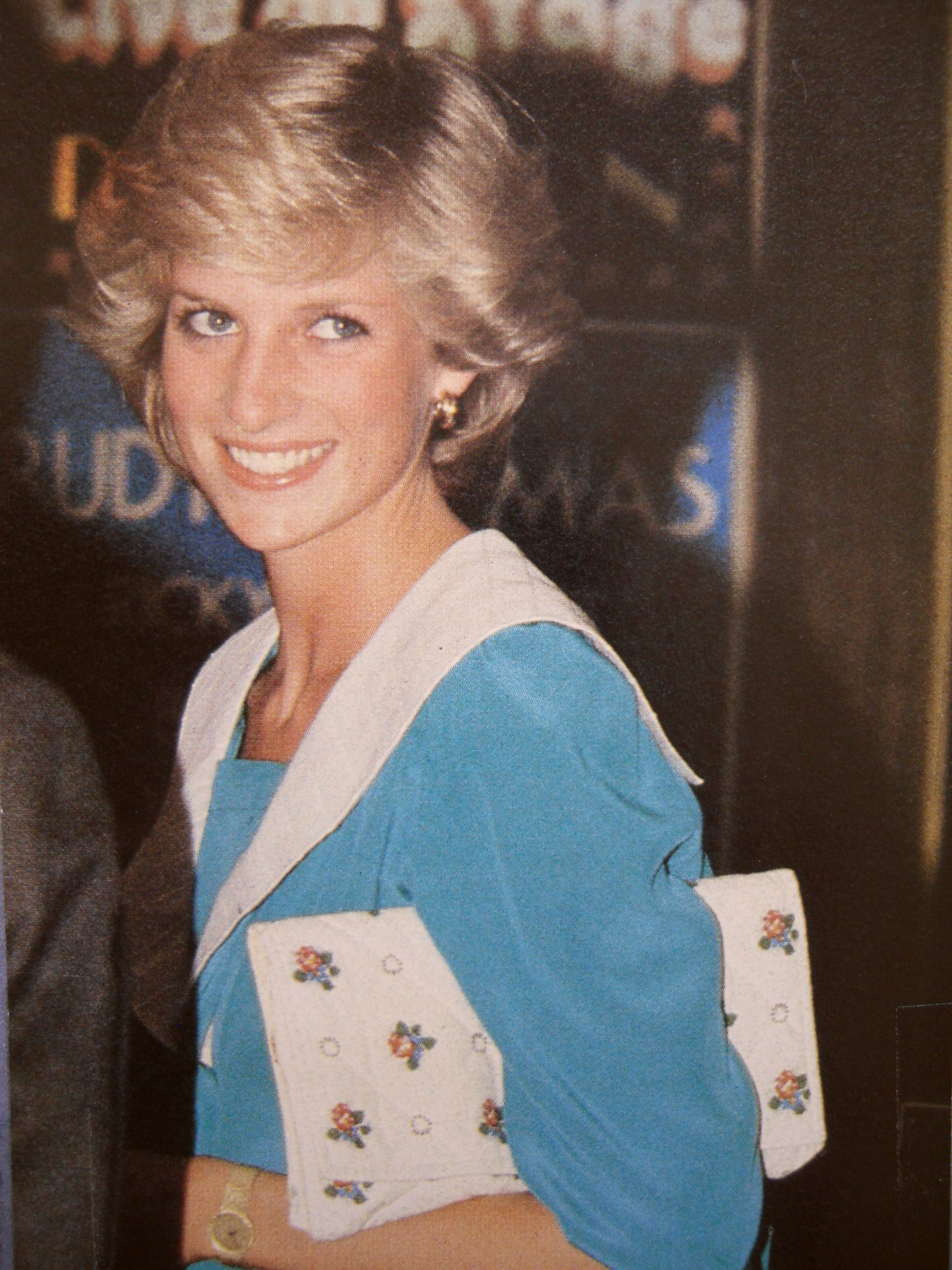 July 20, 1983: Princess arriving at London's Dominion Theatre to attend the Duran Duran Concert.