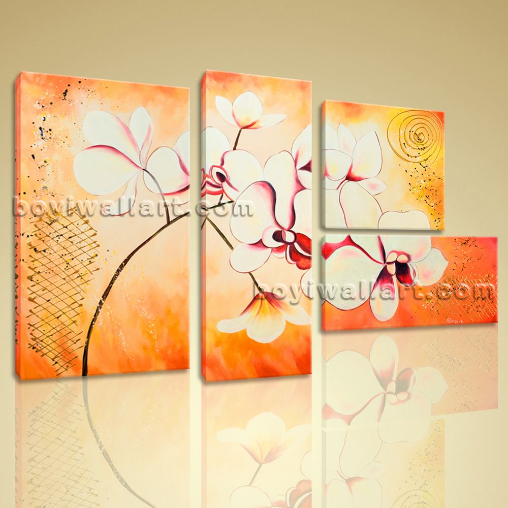Huge Canvas Wall Art Giclee Print Artwork Orchid Flower Abstract ...