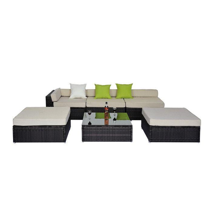 Homcom 7 Seater Corner Sectional Sofa Set With Cushions Reviews Wayfair Uk Garden Sofa Set Rattan Corner Sofa Corner Sofa Set