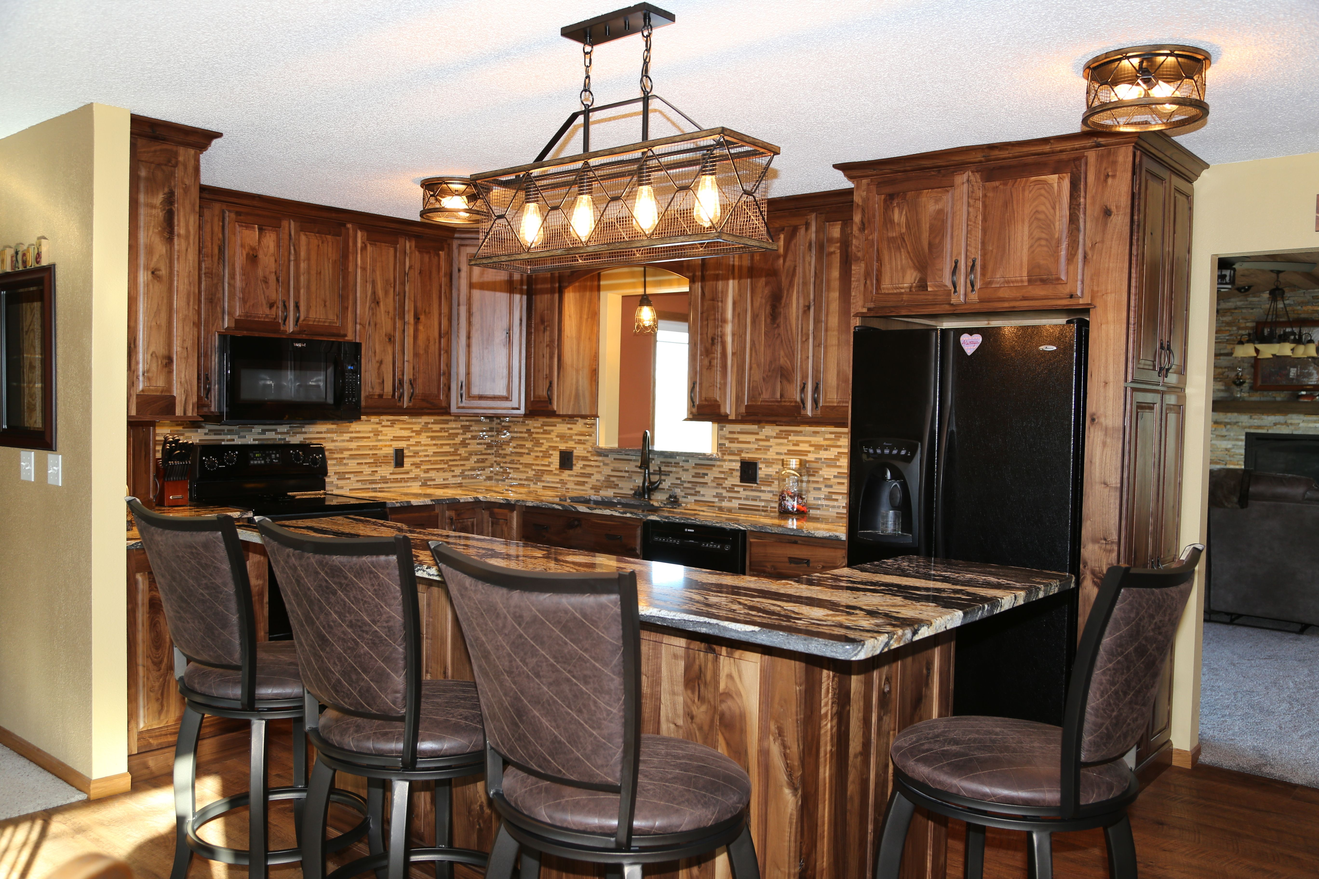 Rustic Walnut Rustic Hickory Kitchen Kitchen Cabinet Remodel Rustic Remodel Hickory Kitchen