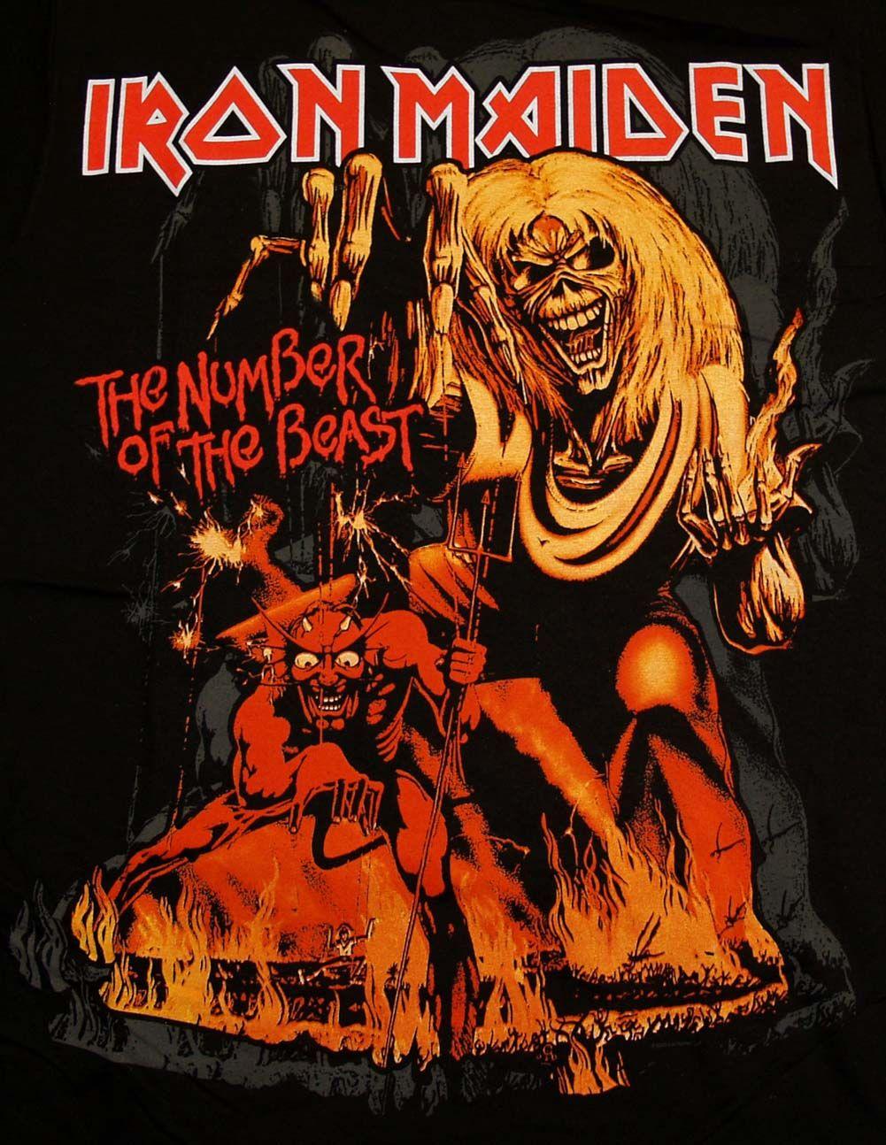 iron maiden shirt rock band