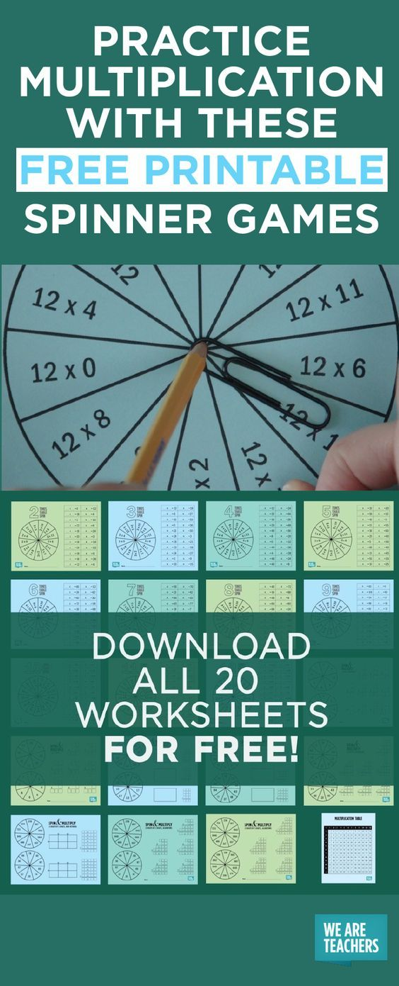 Practice Multiplication With These Free Printable Spinner Games ...
